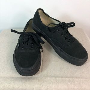 Vans Sneakers Black Tennis Shoes Size 5.5
